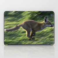 Fox cub on the Run iPad Case