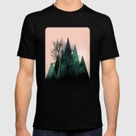 TREES VII  Mens Fitted Tee Black SMALL