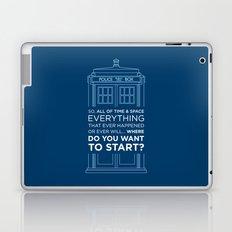 Doctor Who - TARDIS Where Do You Want to Start Laptop & iPad Skin