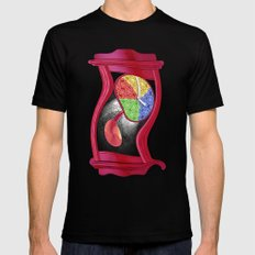 Dali Grandfather Clock SMALL Black Mens Fitted Tee