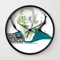 Doc Brown_INK - Back to the Future Wall Clock