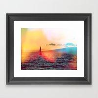 Sailboat. Framed Art Print