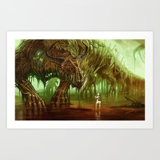 The Nuclear Waste Dragon Art Print