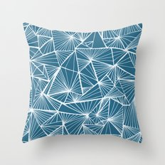 Triangular Texture - Rev… Throw Pillow