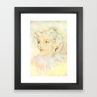 Portrait of an icon Framed Art Print