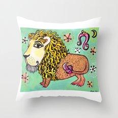 ox MAJESTIC LEO xo Throw Pillow