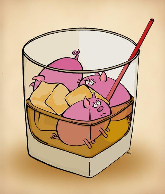 Pickle Pigs Too Art Print