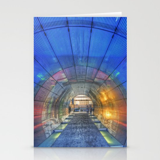 Blue tunnel.  Stationery Card