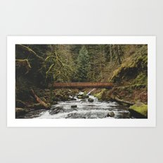 Foot Bridge Art Print