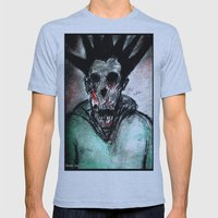 Punk Macabre Mens Fitted Tee Athletic Blue SMALL