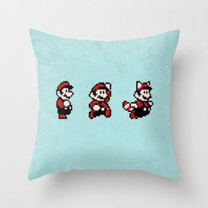 Super Mario Bros 3 Throw Pillow