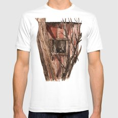 Barn window Mens Fitted Tee SMALL White