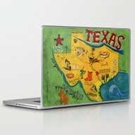 Laptop & iPad Skin featuring Postcard From Texas Prin… by Christiane Engel