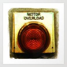 motor overload 2 Art Print