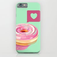 Pink Heart Frosted Donut iPhone 6 Slim Case