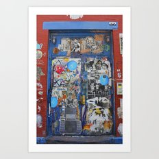 Graffiti Door NYC Art Print
