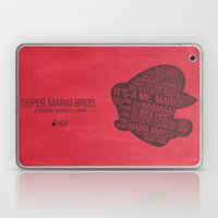 Super Mario Typography Laptop & iPad Skin