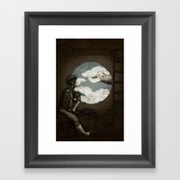 Aviator Girl (Steampunk) Framed Art Print
