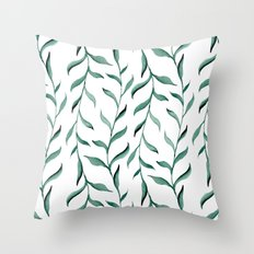 Blue branches. Throw Pillow