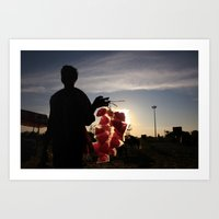 Cottoncandy Man Art Print