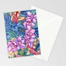 Orchid Splash Stationery Cards