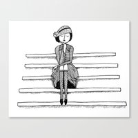 Vintage Vixen Canvas Print