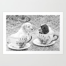 Teacup Puppies. Art Print