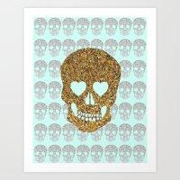 skulls & heartz;; Art Print