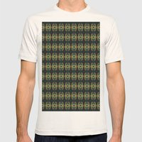 Peacock Bead Abstract Mens Fitted Tee Natural SMALL