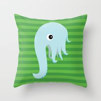 Elephant Squid Throw Pillow