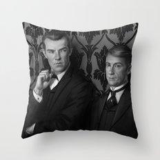 Holmes & Watson -- BBC meets Granada Throw Pillow
