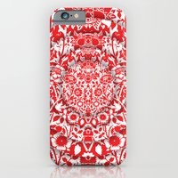 iPhone & iPod Case featuring Illusionary Daisy (Red) by I AM ZAKI SHARIFF