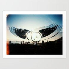 Fly High to the Sky Analog Zine Art Print