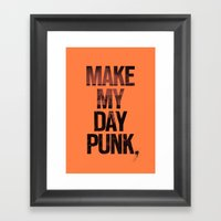 Make my day punk Framed Art Print
