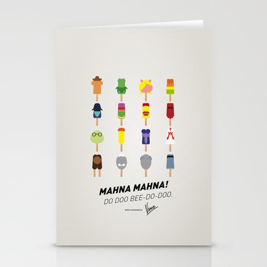 My MINIMAL ICE POPS univers III Stationery Card