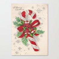 A Vintage Merry Christma… Canvas Print