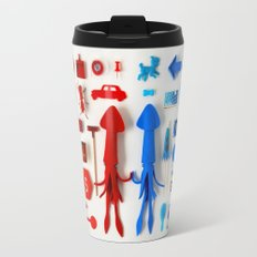 Red Squid, Blue Squid Travel Mug
