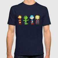Little Avengers Mens Fitted Tee Navy SMALL