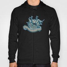 sailing ship galleon scroll Hoody