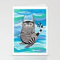 Stripy Fella Stationery Cards