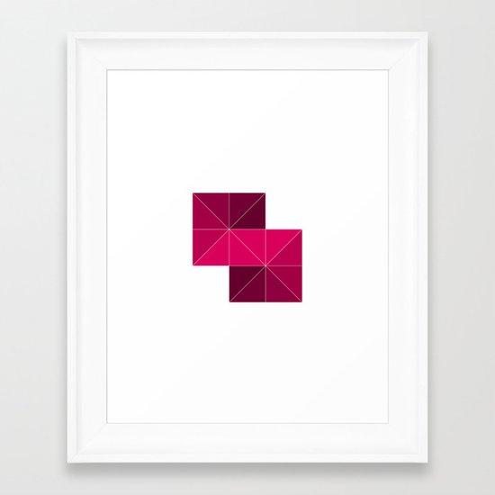 #268 Stairway – Geometry Daily Framed Art Print