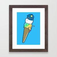 Police Cream Framed Art Print