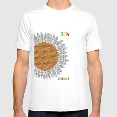 Calendar 2014 - Sunflower Mens Fitted Tee SMALL White