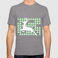 FREEDOM DEER Mens Fitted Tee Tri-Grey SMALL