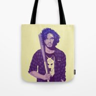 Tote Bag featuring GAME OF THRONES 80/90s E… by Mike Wrobel