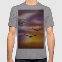 Sunset Mens Fitted Tee Athletic Grey SMALL