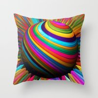 A World Of Color Throw Pillow