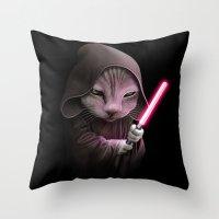 CATWARS Throw Pillow