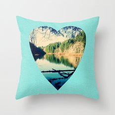 Lost Lake Love Throw Pillow