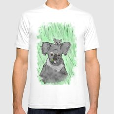 Koalas SMALL White Mens Fitted Tee
